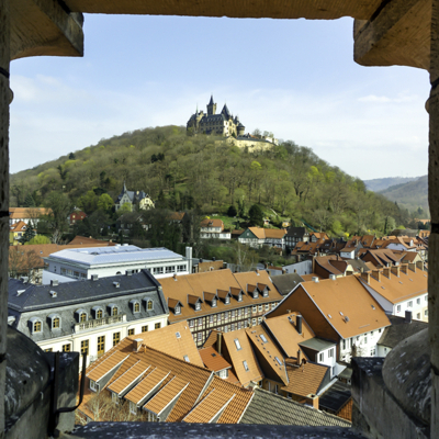 Wernigerode Castle from the Tower of the Church of Our Lady